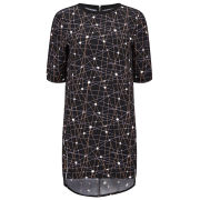 Neon Rose Women's Cocoon Space Print Dress - Multi