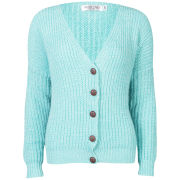 Moku Women's Chunky Mix Knit Cardigan - Mint