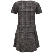 Carven Women's Checked Dress - Bordeaux