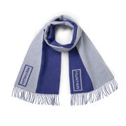 Hunter Women's Original Moustache Scarf - Cobalt/Ash Grey