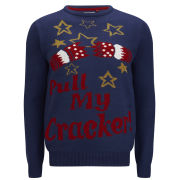 Threadbare Men's Crackers Knitted Jumper - Navy