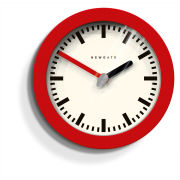 Andromeda Wall Clock - Fire Engine Red