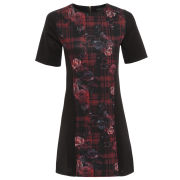 Damned Delux Women's Floral Check Dress - Black/Red
