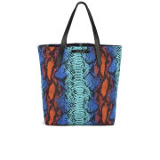House of Holland Tote Amaze Reversible Nylon Tote Bag - Blue Snake/Purple Viper