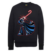 Star Wars Christmas Candy Cane Darth Vader Sweatshirt - Black