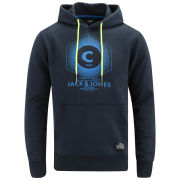 Jack and Jones Men's Elijah Core Hoody - Black Navy