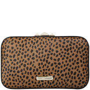 Rebecca Minkoff Speckled Calf Hair Vincent Minaudiere - Leopard