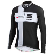 Sportful Men's Gruppetto Long Sleeve Jersey - Black/White