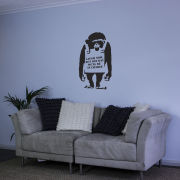 Banksy Monkey Vinyl Wall Decal