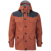 Brave Soul Men's Penrithss Jacket - Rust/Navy