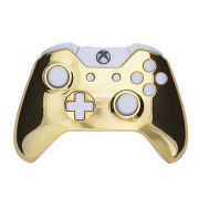 Xbox One Wireless Custom Controller - Chrome Gold - White Buttons
