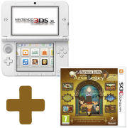 Nintendo 3DS XL White: Bundle includes Professor Layton and the Azran Legacy