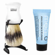 men-u Barbiere Shaving Brush and Stand - White