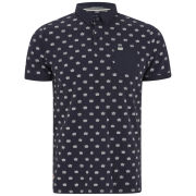 Weekend Offender Men's Parr Crown Printed Polo-Shirt - Shark Navy/White