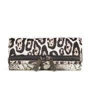 Ted Baker Large Zip Exotic Clutch Bag - Black