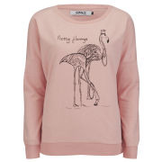 ONLY Women's Flamingo Sweatshirt - Pink