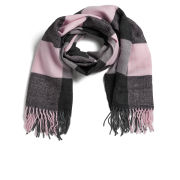 ONLY Women's Scarlett Check Scarf - Silver Pink