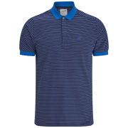 Boxfresh Men's Keckle Skinny Stripe Polo - Mid Navy