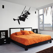 Banksy Girl Swinging Vinyl Wall Decal