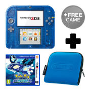 Nintendo 2DS Transparent Blue Pokémon Alpha Sapphire Pack