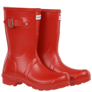 Hunter Unisex Original Short Wellington Boots - Red