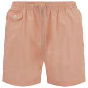 Brave Soul Men's Cafu Swim Shorts - Pastel Orange
