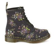 Dr. Martens Women's Core Floral Print Castel 8-Eye Boots - Black