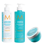 Moroccanoil Trio – Moisture Repair Shampoo, Conditioner and Hydrating Mask Light