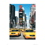 New York Yellow Taxis - 60 x 80cm Print