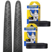 Continental Grand Prix 4000S II Clincher Road Tyre Twin Pack with 2 Free Inner Tubes - Black - 700C x 25mm