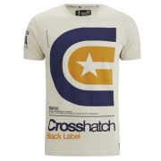 Crosshatch Men's Stargaze T-Shirt - Silver Birch