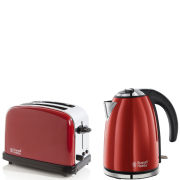 Russell Hobbs 1.7 Litre Jug Kettle - Flame Red and 2 Slice Toaster - Flame Red