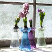Nkuku Hyacinth Bulb Vase - Turquoise - 16 x 9cm