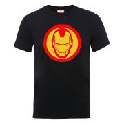 Marvel Avengers Assemble Iron Man Simple Symbol Men's T-Shirt - Black
