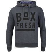 Boxfresh Men's Hagro Graphic Print Hoody - Charcoal Fleck