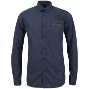Jack & Jones Men's Long Sleeve Lock Logo Shirt - Dress Blues