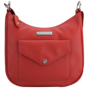 Tommy Hilfiger Women's Suzette Leather Hobo Bag - Poppy Red