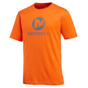 Merrell Men's Stacked Logo Trail Tech T-Shirt - Orange/Grey