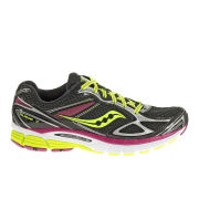 Saucony Women's Guide 7 Guidance Running Shoes (Medium Width) - Black/Citron/Berry