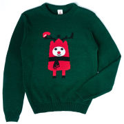 Rudy Christmas Knitted Jumper - Green