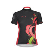 Primal Women's Infiniti Short Sleeve Jersey - Black/Grey/Pink/Green