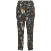 ONLY Women's Trixie Floral Trousers - Cloud Dancer