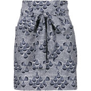 French Connection Women's Siera Shell Tie Waist Skirt - Off White