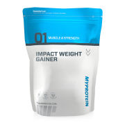 Impact Weight Gainer  - Chocolate Smooth 5kg  Chocolate Smooth Pouch 5000