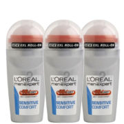 L'Oreal Paris Men Expert Sensitive Comfort Deodorant Roll-On (50ml) Trio