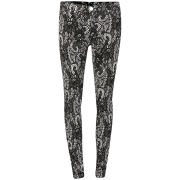 2nd One Women's Lace Effect Embroidery Jeans - Black/White