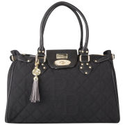 Paul's Boutique Twister Classic Quilted Bowler Bag - Off Black