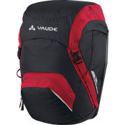 VAUDE Road Master Back Pannier - Black/Red
