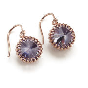 Katie Rowland Women's Mini Orb Drop Earrings - 18 Carat Rose Gold