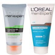L'Oreal Paris Men Expert Duo- Hydra Sensitive Soothing Wash & Pure & Matte Anti-Shine Gel